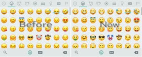 WhatsApp before and after emoji set