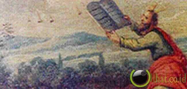 Lukisan Musa Menerima 10 Perintah Alah dengan UFO di Udara