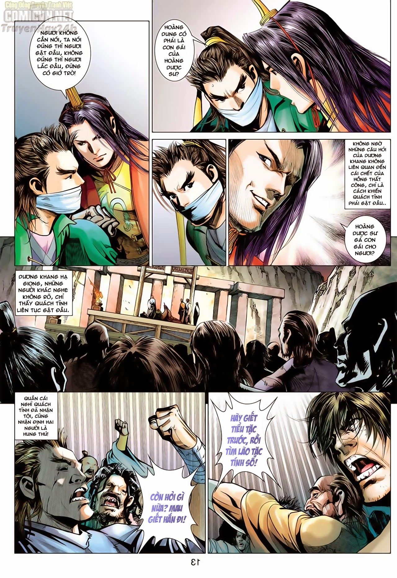 Anh Hùng Xạ Điêu anh hùng xạ đêu chap 66: nhạc châu đại hội trang 13