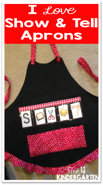 Show and Tell Teaching Apron:Show and Tell Aprons  are a must for every primary classroom.  These versatile aprons can be used in all curricular areas.  Once you start using your apron you'll wonder how you ever managed to teach without it.