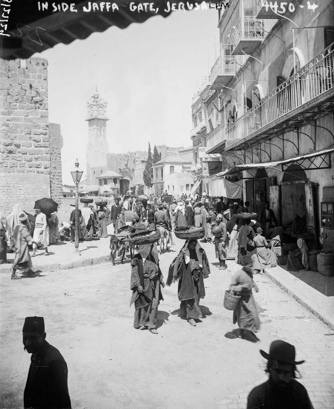 A busy street of Jerusalem. 1915.