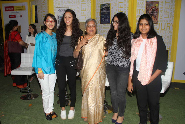 Sudha Murthy with budding teenage authors