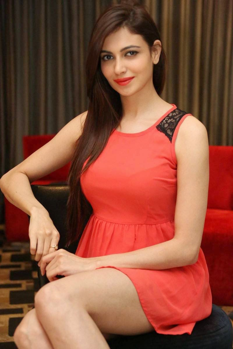 Actress Simran Kaur Mundi Photoshoot Stills, Simran Kaur Mundi Long Legs hot Pics in Red short Dress & Boots