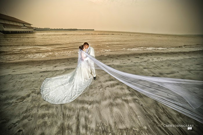 sunset dirty muddy sand gown