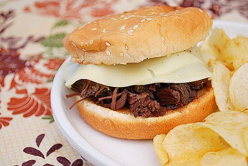 The BEST Slow Cooker or Instant Pot French Dip Sandwiches ...