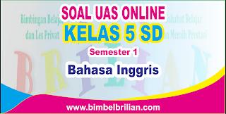 Soal UAS Bahasa Inggris Online Kelas 5 SD Semester 1 ( Ganjil ) - Langsung Ada Nilainya