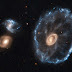 Galáxia com formato de roda de carro