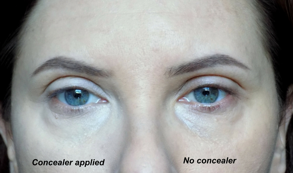 Bourjois Blur the lines concealer, before and after photo
