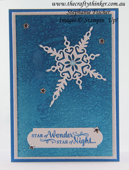 Xmas card, Christas Card, Star of Light, #thecraftythinker, Stampin' Up Australia Demonstrator, Stephanie Fischer, Sydney NSW