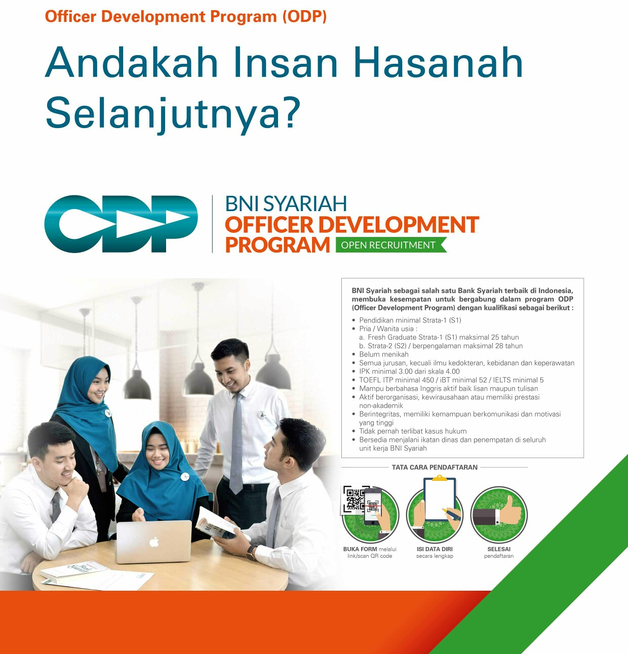 BNI Syariah Officer Development Program September 2018