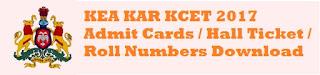 KCET Admit Cards 2017
