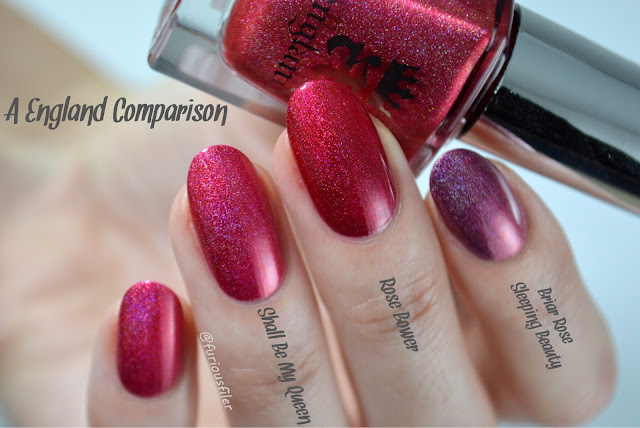 a england holographic comparison tennyson's romance red