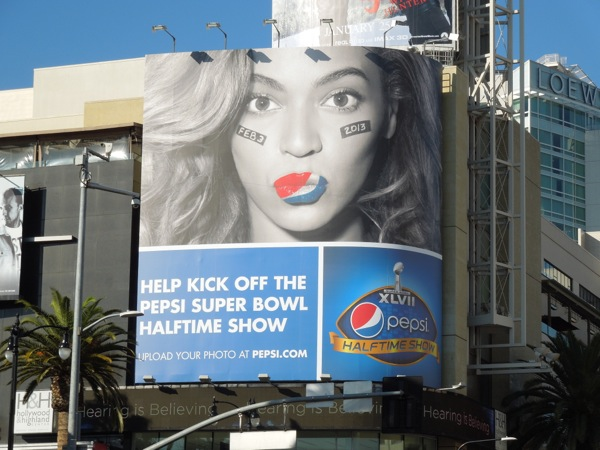 Beyonce Pepsi Super Bowl billboard 2013