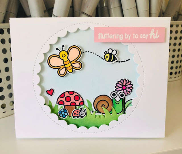 Sunny Studio Stamps: Backyard Bugs Customer Card by Miriam Chessum