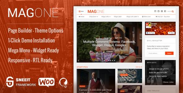 MagOne v6.4.9 – Responsive News & Magazine Blogger Template