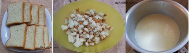 How to make Bread Halwa- Step 1