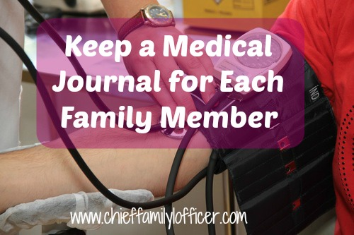 Keep Medical Journals for Your Family | Chief Family Officer