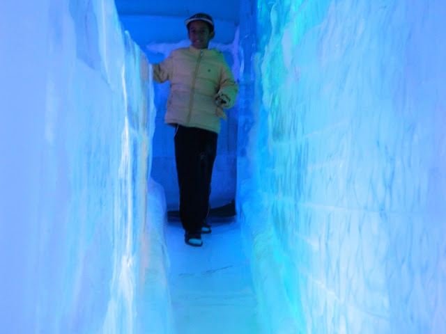 Ice slide in Seoul