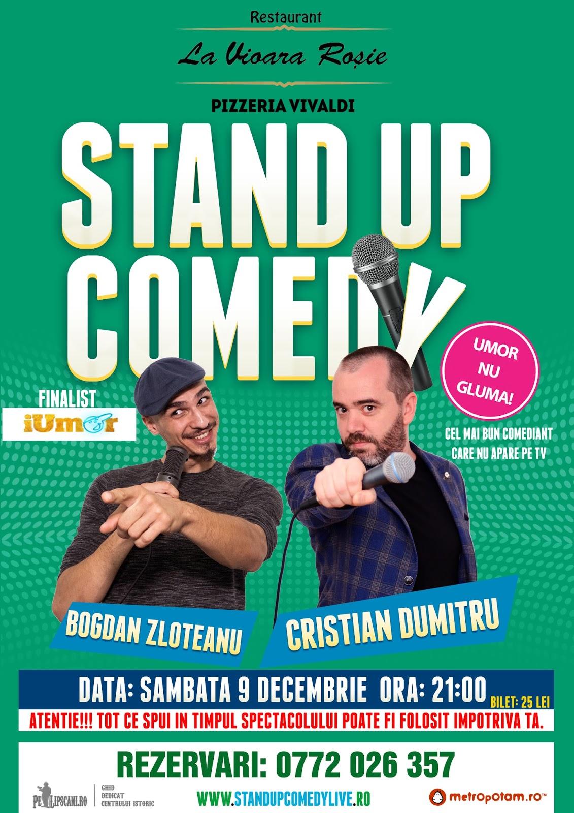 Stand-Up Comedy Bucuresti Sambata 9 Decemebrie