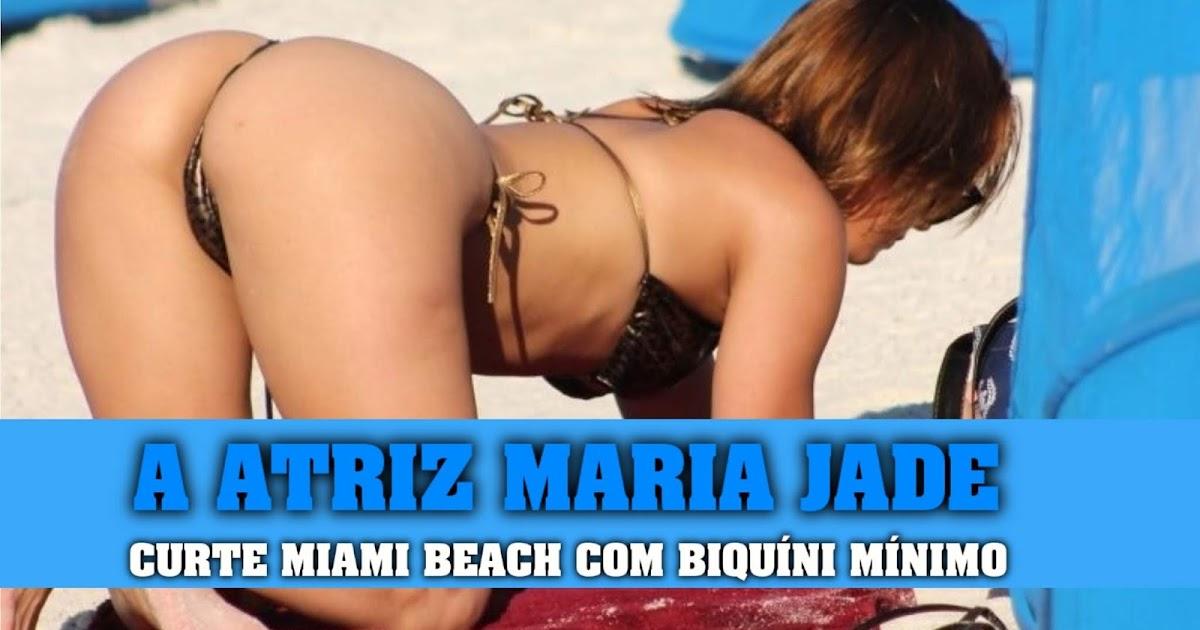 Tem Na Web - A ATRIZ MARIA JADE CURTE MIAMI BEACH COM BIQUÍNI MÍNIMO