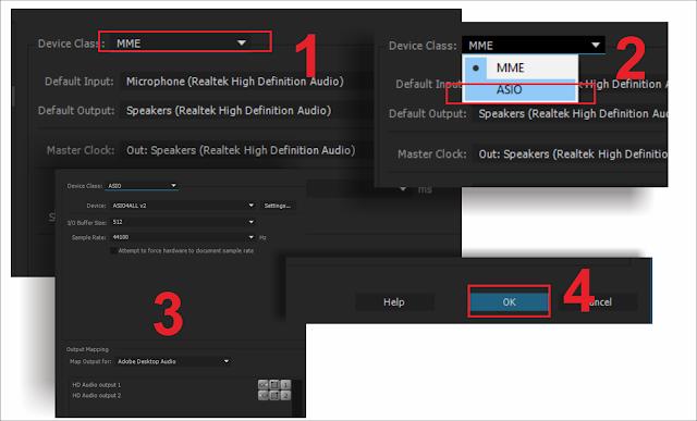 instal driver audio di adobe premiere