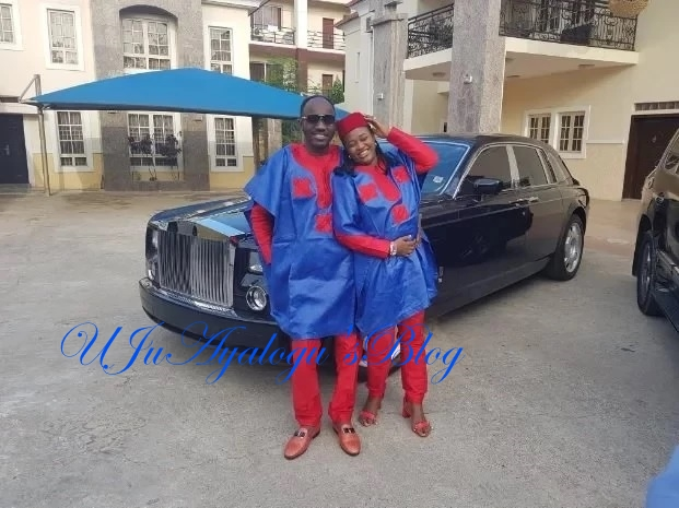 Awww! Apostle Suleman and his wife look like lovestruck teenagers in these matching outfits