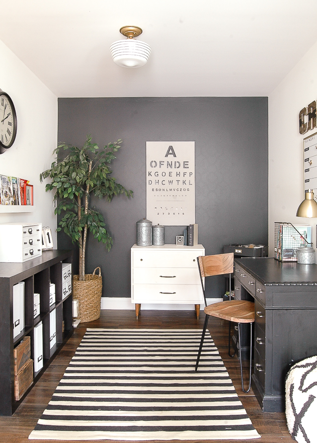 modern industrial farmhouse office makeover HOME TOUR