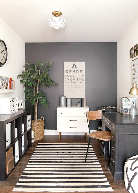 modern industrial farmhouse office makeover