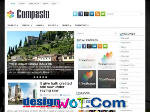 Compasto Free Responsive WordPress Theme