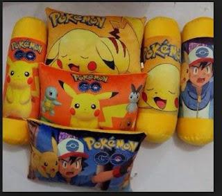 Bantal dan guling pokemon go