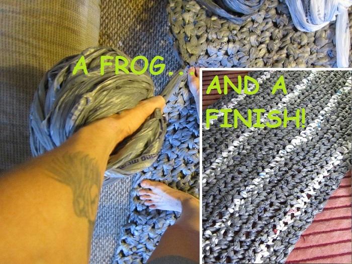 crochet, plarn, plastic yarn, rug