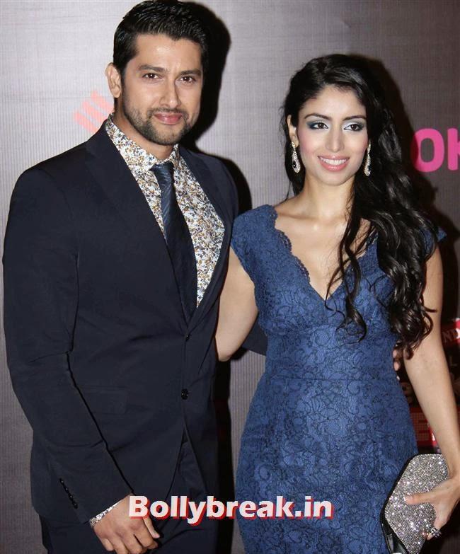 Aftab Shivdasani with nin dusanj, Bollywood Wags at Screen Awards 2014