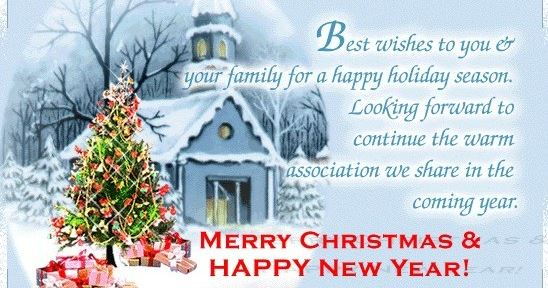 Best Christmas Wishes New Year Greetings