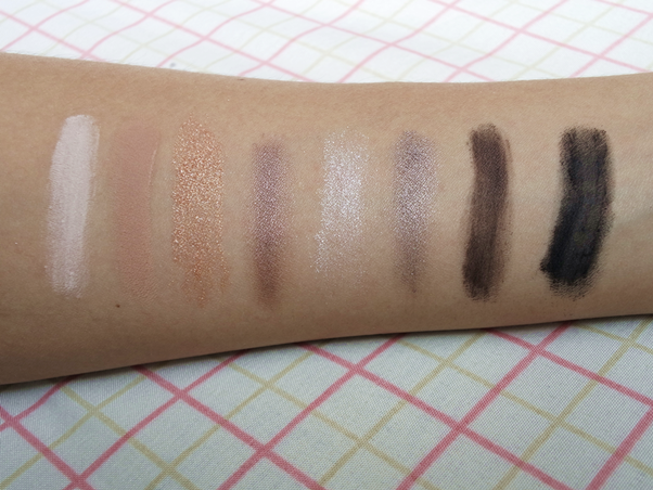 Resenha Paleta MAC - Heirloom Mix Keepsakes Smoky eyes swatch