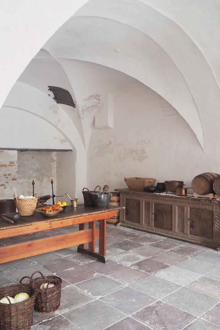 Cuisines du château de Kronborg au Danemark
