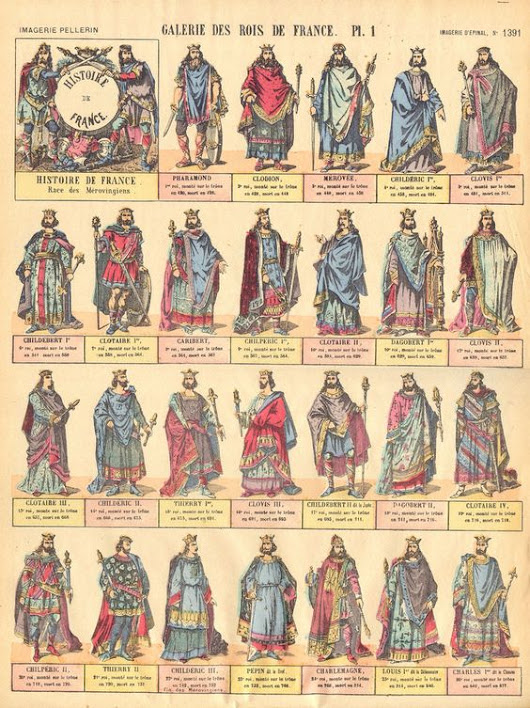 Merovingian and Carolingian Kings of the Franks