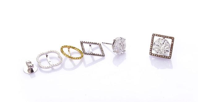 Interchangeable earrings from Aurelle by Leshna Shah