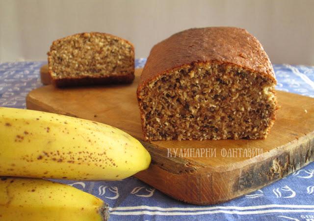 Бананов кекс с лимец и кокос