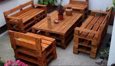kursi cafe kayu dari bekas