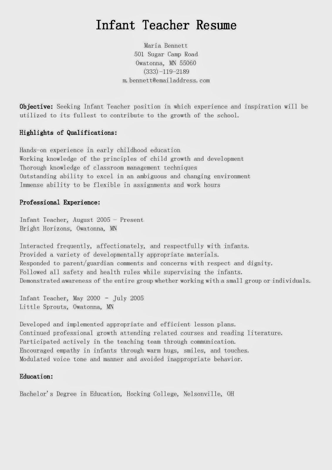 resume description for golf course