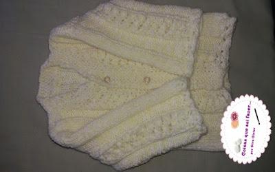 conjuntinho de tricô para recém nascido