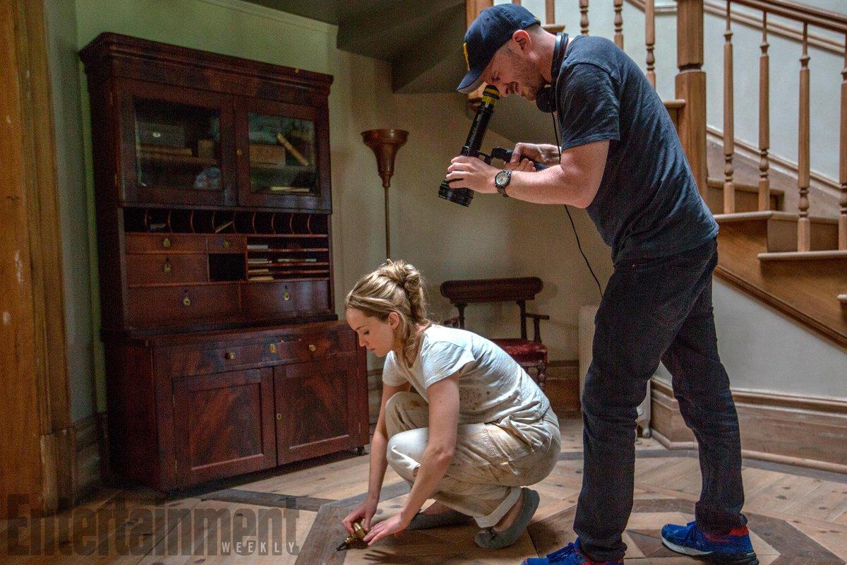 MADRE! - Darren Aronofsky y Jennifer Lawrence - rodaje