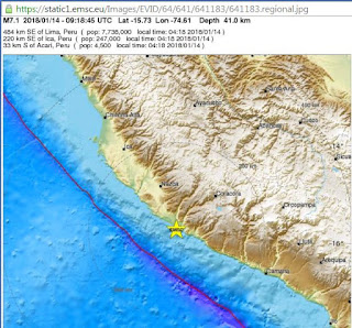 Strong 7.1 earthquake jolts Peru
