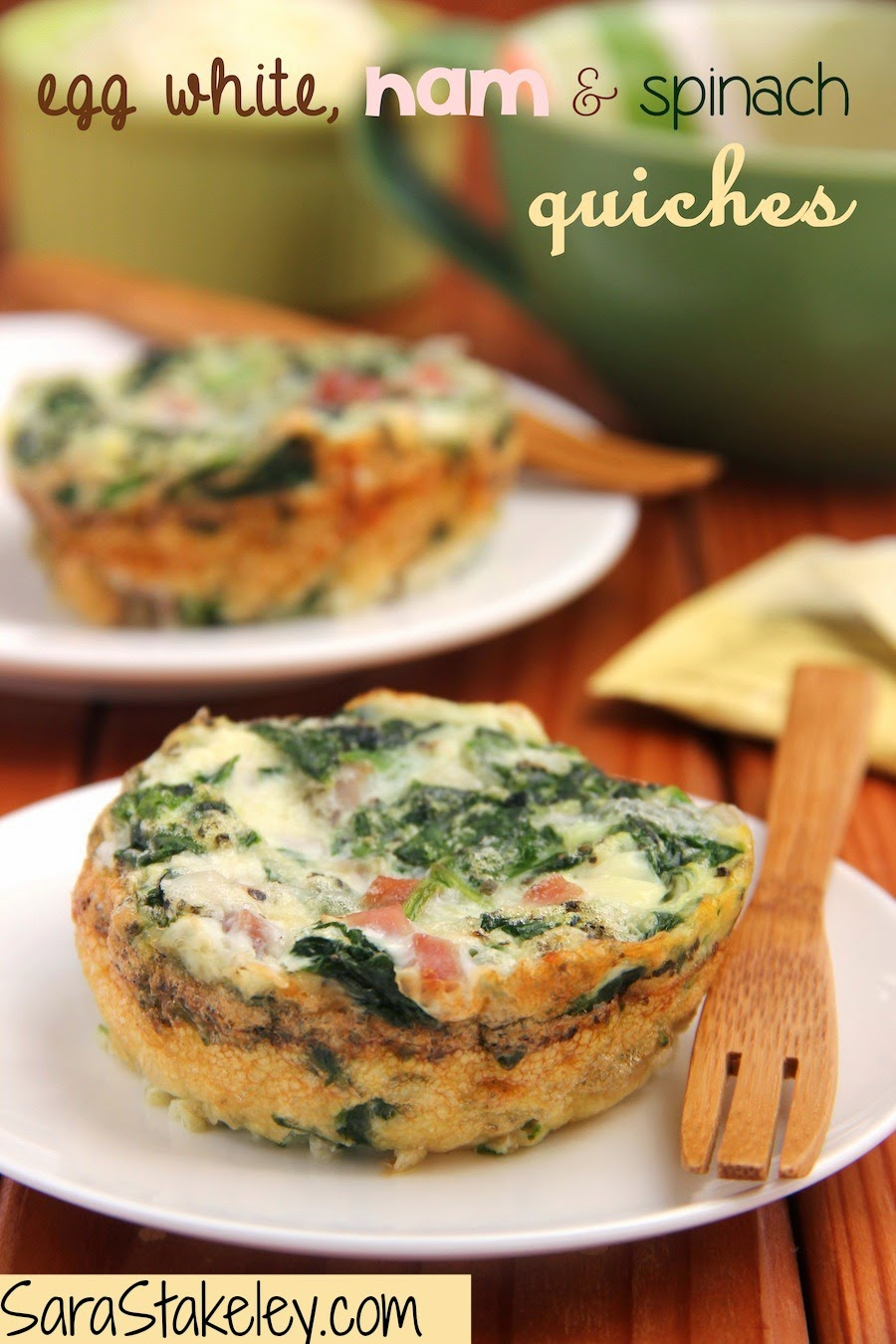 Sara Stakeley Egg White Ham Amp Spinach Quiches