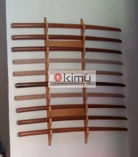 KIMU Dragon Claw Wall Katanakake (rak pedang) 10 tingkat - dinding