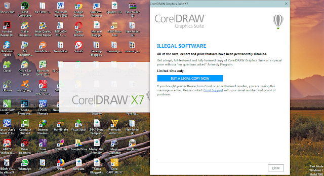 Tutorial Cara Mengatasi Block Illegal Software Corel Draw X7