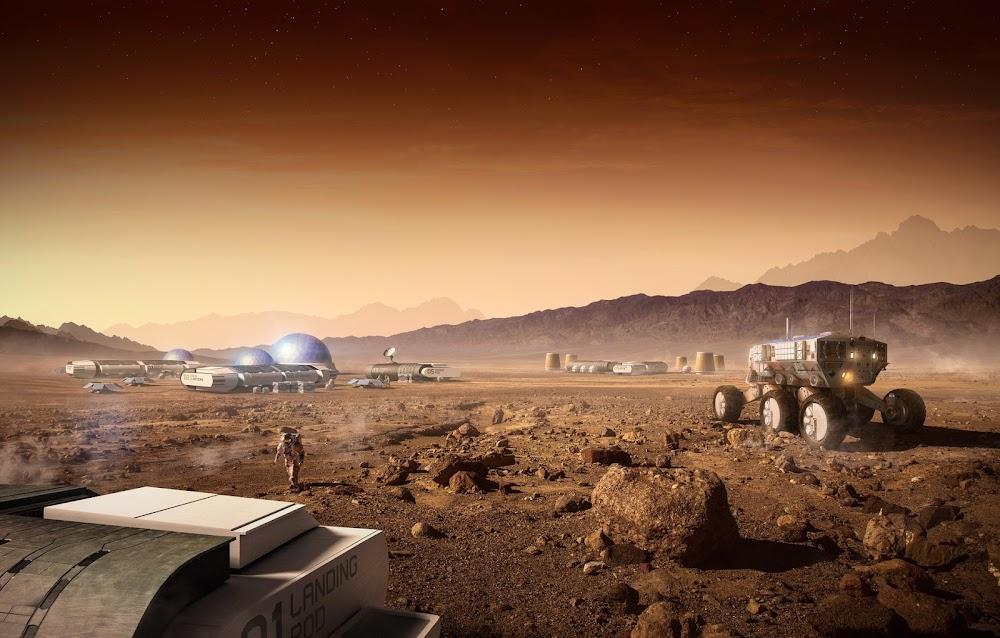 Mars base by Carles Marsal