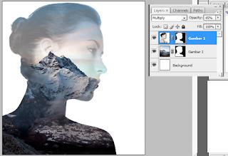 layer mask, bekerja dengan mengunakan fasilitas layer mask, cara menggunakan layer mask