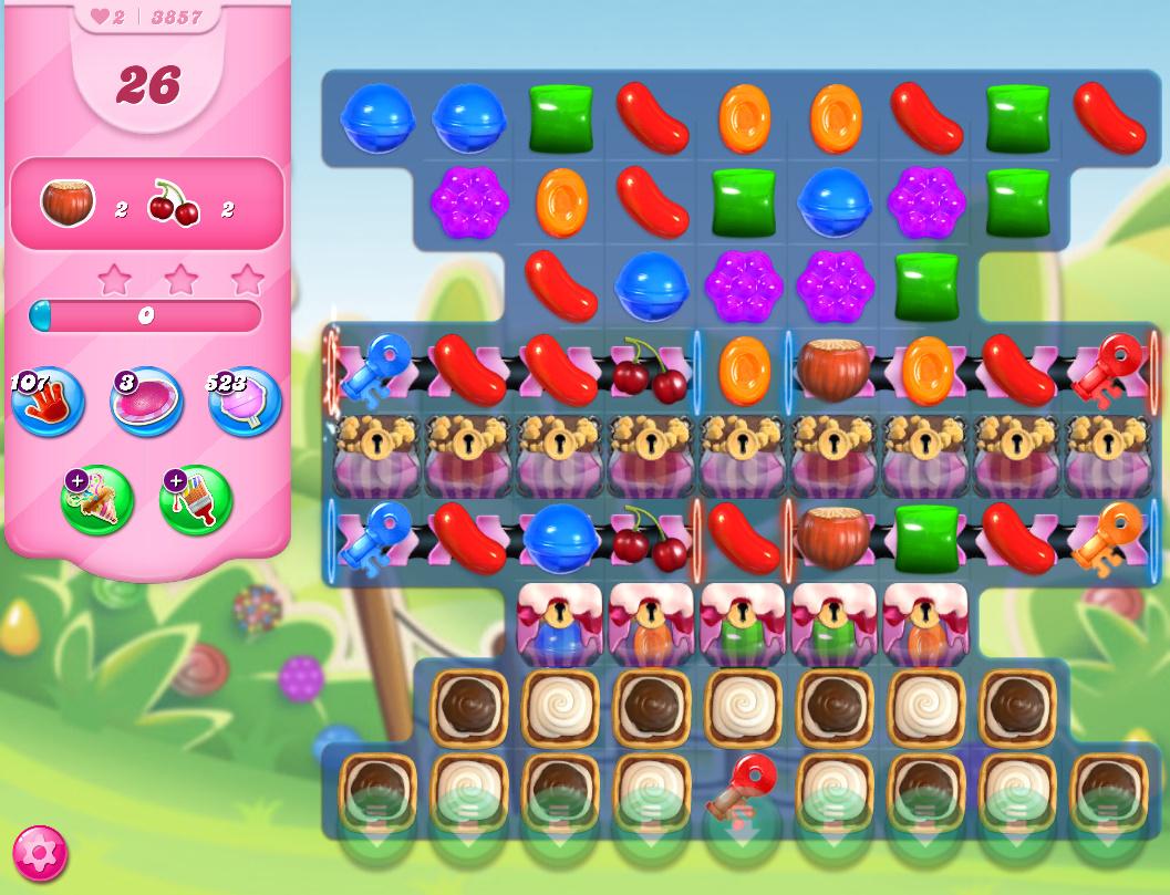 Candy Crush Saga level 3857