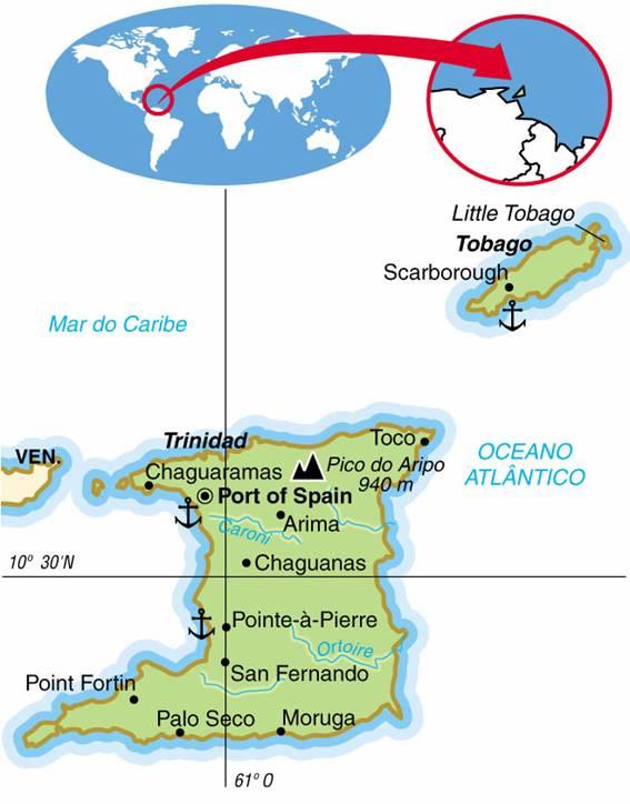 TRINIDAD E TOBAGO - ASPECTOS GEOGRÁFICOS E SOCIAIS DE TRINIDAD E TOBAGO
